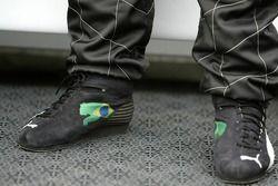 Racing shoes of Rubens Barrichello