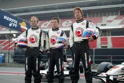 Rubens Barrichello, Anthony Davidson and Jenson Button