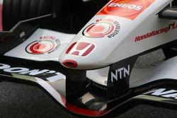 Detail of the new Honda Racing RA106