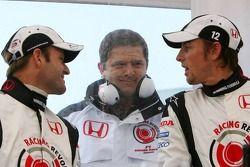 Rubens Barrichello, Gil de Ferran et Jenson Button