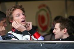 Jenson Button and Anthony Davidson