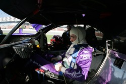 Patrick Carpentier gets ready for practice