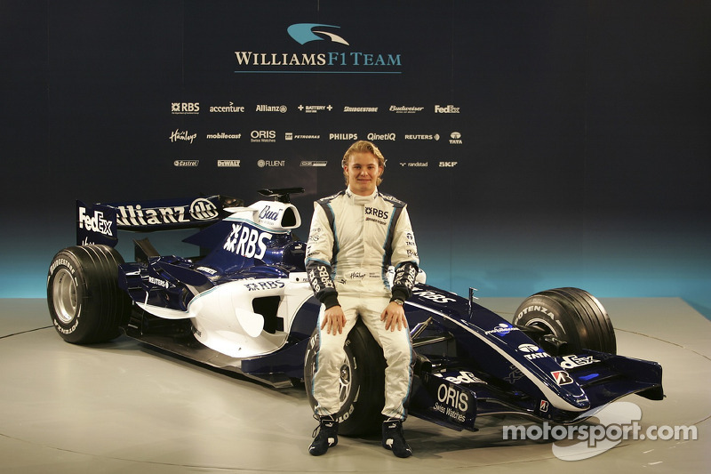 Nico Rosberg with the new Williams FW28