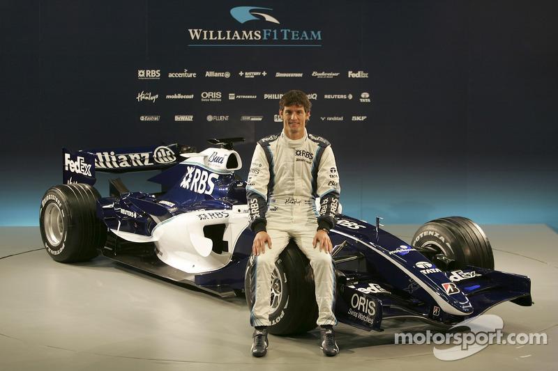Mark Webber con el nuevo Williams FW28