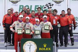 GT class winners: Randy Pobst, Michael Levitas, Ian Baas, Spencer Pumpelly