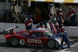 Arrêt au stand #7 CITGO Racing by SAMAX Pontiac Riley: Milka Duno, Dario Franchitti, Marino Franchit