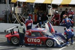 Arrêt au stand #7 CITGO Racing by SAMAX Pontiac Riley: Milka Duno, Dario Franchitti, Marino Franchitti, Kevin McGarrity