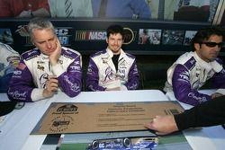 Eddie Cheever, Patrick Carpentier and Christian Fittipaldi