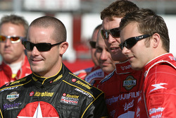 Casey Mears, Scott Dixon and Dan Wheldon
