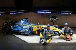Giancarlo Fisichella und Fernando Alonso mit dem Renault R26