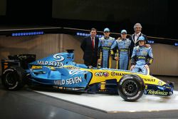 Patrick Faure, Giancarlo Fisichella, Heikki Kovalainen, Flavio Briatore ve Fernando Alonso