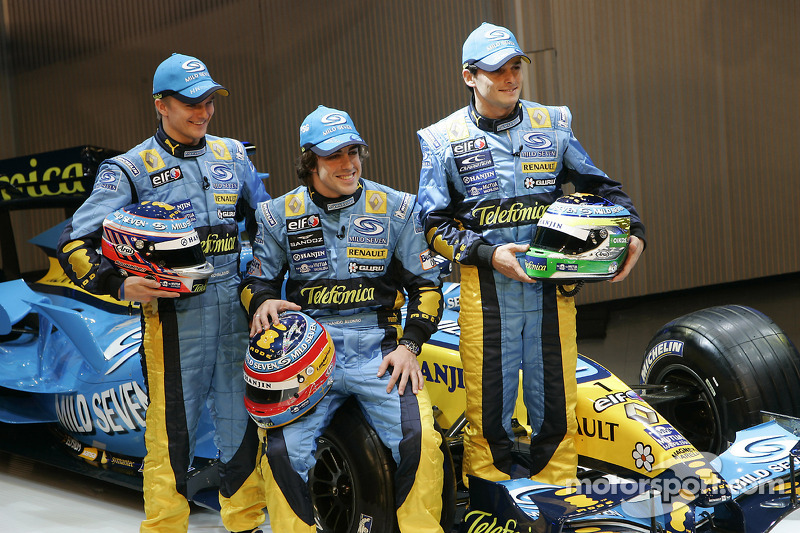 Heikki Kovalainen, Fernando Alonso ve Giancarlo Fisichella