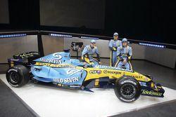 Giancarlo Fisichella, Heikki Kovalainen en Fernando Alonso