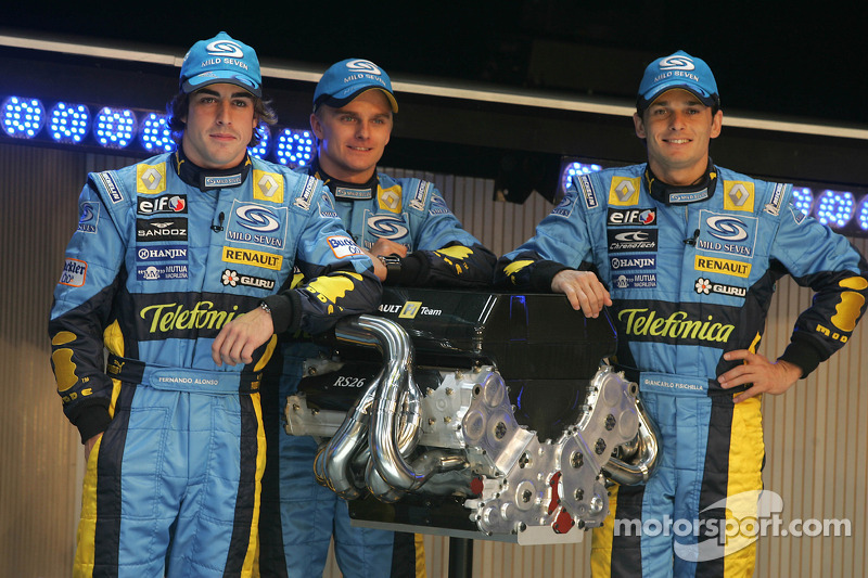 Fernando Alonso, Heikki Kovalainen ve Giancarlo Fisichella