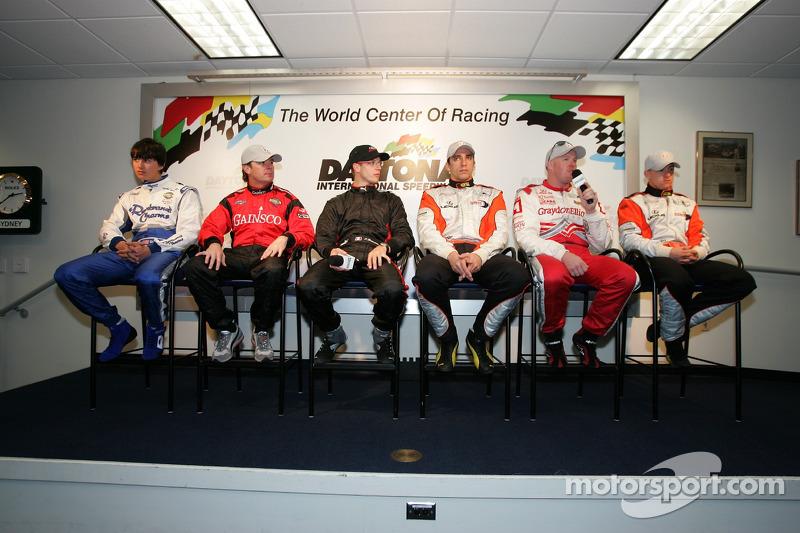 Champ Car rueda de prensa los pilotos: Graham Rahal, Jimmy Vasser, Sébastien Bourdais, Justin Wilson