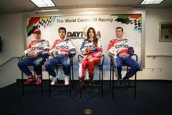 Conférence de presse de l'équipe CITGO Racing: Marino Franchitti, Dario Franchitti, Milka Duno et Kevin McGarrity
