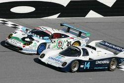 1998 Porsche GT1 et 1986 Porsche 962