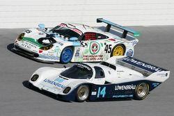 1998 Porsche GT1 and 1986 Porsche 962