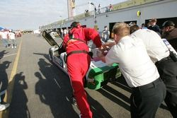 #12 Lowe's Fernandez Racing Pontiac Riley: Adrian Fernandez, Mario Haberfeld, Scott Sharp dans le ga