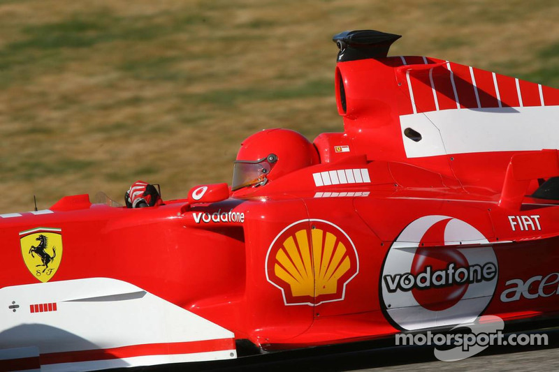 Valentino Rossi in Ferrari F2004 at Valencia in 2006