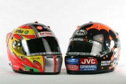 Helmets of Tiago Monteiro and Christijan Albers