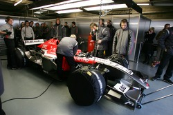 The MF1 Racing M16 in the garage