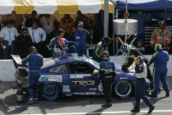 Pitstop for #68 TRG Porsche GT3 Cup: Jim Lowe, Revere Greist, Jim Pace