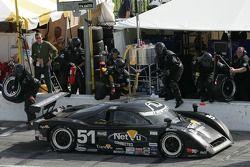 Pitstop for #51 Cheever Racing Lexus Crawford: Tommy Erdos, Mike Newton, Warren Hughes, Stefan Johan