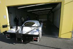 Le vainqueur des qualifications Alex Job de l'équipe Racing/ Emory Motorsports Porsche Crawford va a