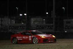 Sortie de piste pour la Mastercar Ferrari 360GT: Luis Monzon, Costantino Bertuzzi, Bo McCormick