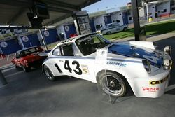 Rolex 24 Heritage cars on display