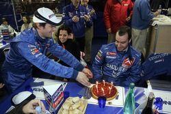Xavier Pons celebrates birthday with Sébastien Loeb