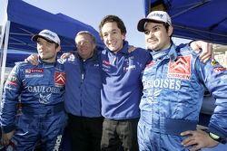 Sébastien Loeb and Daniel Elena celebrate second place