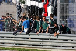 Rapid Vienna football team watches test action
