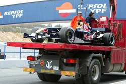 yeni Torro Rosso STR1, Vitantonio Liuzzi back pit after stopping, track