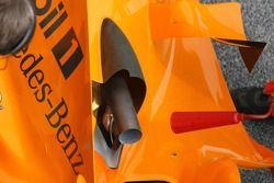 Detail van de nieuwe McLaren Mercedes MP4-21