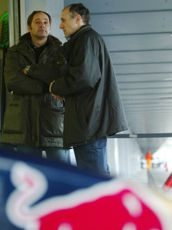 Co-owner of Scuderia Toro Rosso Gerhard Berger and Franz Tost