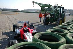 Giorgio Mondini in the tire wall