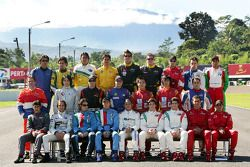 Photoshoot: the A1GP drivers pose at Sentul