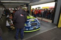 Greg Biffle's car in NASCAR inspection