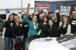 Dale Earnhardt Foundation joins 'One' campaign: Teresa Earnhardt and friends pose with the 'One' car