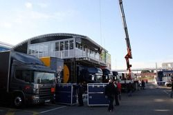 Les infrastructures de Red Bull dans le paddock