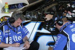 Matt Borland and Ryan Newman at work