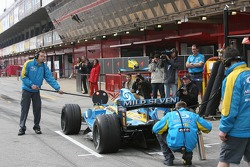 Pitstop practice for Giancarlo Fisichella