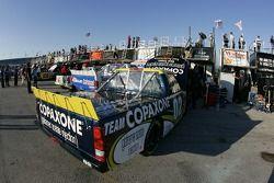 Le garage de l'équipe Copaxone Chevy