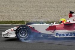Ralf Schumacher spins off the track
