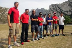 Evènement Rock climbing PR: Les pilotes de A1GP se tiennent prêts