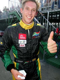 Stephen Simpson fête sa pole position