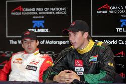Conférence de presse: le vainqueur de la pole position Stephen Simpson avec Neel Jani