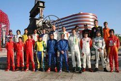 Séance photos: les pilotes de A1GP posent à Monterrey